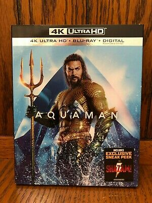 Aquaman 4K Ultra HD + Blu-ray + Digital BRAND NEW with Slipcover DC