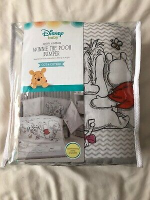 Winnie The Pooh Cot / Cotbed Bumper Unisex Boy Girl