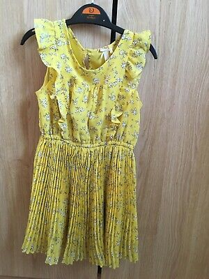 Girls Age 3 Yellow Floral Dress From Next