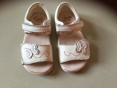 Clark's girls Ivory coloured sandals - Size 6F
