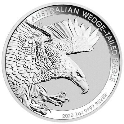 Australia Wedge Tailed Eagle – 2020 1 Oz Bu Silver Coin In Capsule