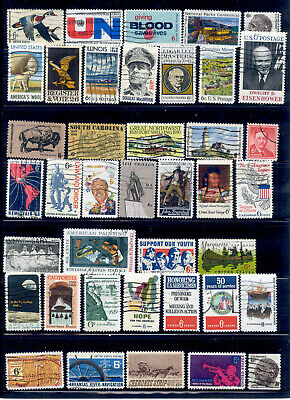 6 Cent 57 Stamps US Lot 1968-1971 Used