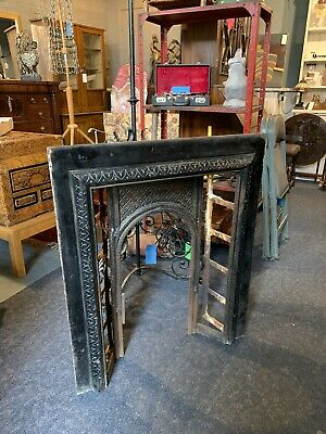 Antique Victorian Cast Iron Fire Place Surround Arts And Crafts