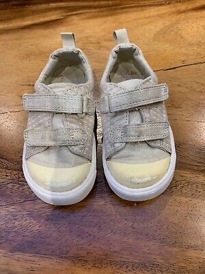 Clarks Sparkly Girls Trainers Size 6.5F