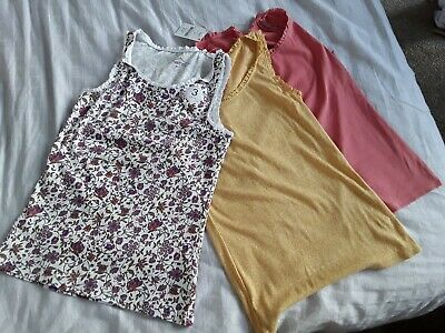 Girls Age 12 Years Next Vest Tops 3 Pack New With Tags