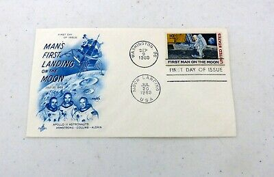 First Day Issue First Man On The Moon Apollo 11 Dual Postmark