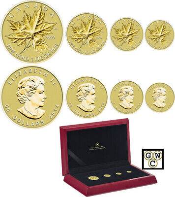 2014 'Gold Maple Leaf' 4-Coin Set .9999 Fine (13308) (OOAK) WTX