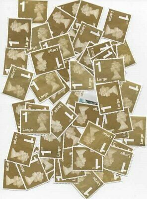 25 x Large 1st class mostly gold stamps unfranked with NO gum