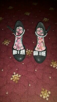 Girls Lilley Sparkle Black Shoes 4