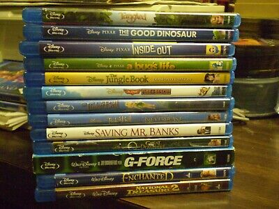 (17) Disney Children's Blu-Ray Lot: Up Inside Out  Jungle Book  Oz   <$3.00 Each