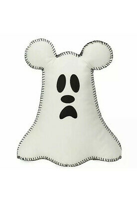 "Disney Parks Halloween Ghost Mickey Boo To You Pillow 15"" Plush New"