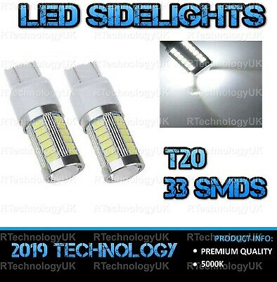 PAIR 7443 580 T20 37x SMD LED bulbs 21W DRL For Vauxhall CORSA D