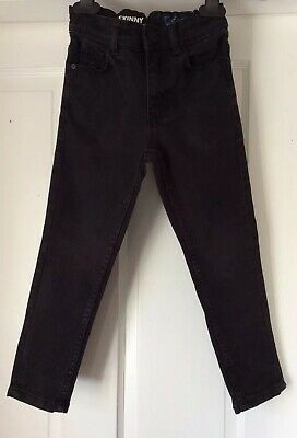 Next Skinny Black Jeans, Adjustable Waist, Cotton Blend - Age 5 Years