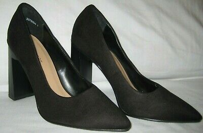 New Look black faux suede smart casual shoes size 5