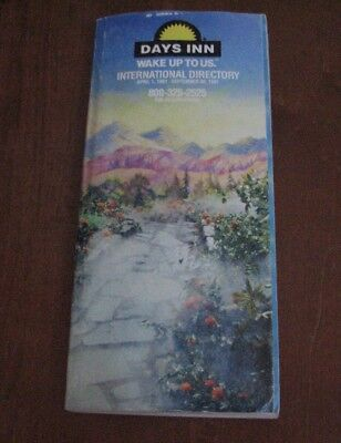 1991 Days Inn Wake Up To Us International Directory Hotel Motel 360 Pgs Map Ad