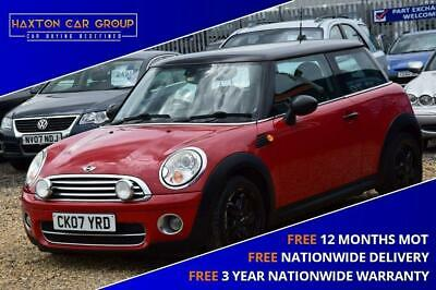 2007 MINI HATCH COOPER 1.6 COOPER D 3d 108 BHP + FREE NATIONWIDE DELIVERY + FREE