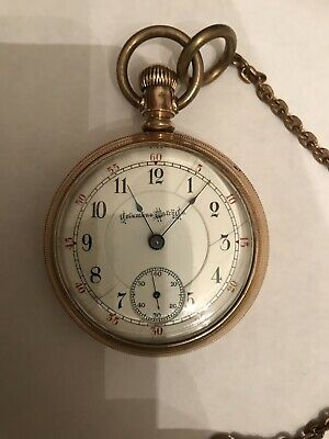 """Antique 18 size Heavy Gold Filled """"Columbus Watch Co"""" 17 jewel Pocketwatch"""