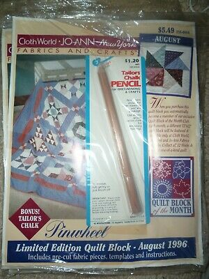 Jo Ann Fabric & Crafts Limited Quilt, 12 Blocks Complete Great Patterns
