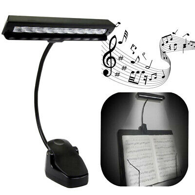 2Pcs 9 LEDs Clip-On Orchestra Music Stand Flexible LED Lamp Light With Adapter