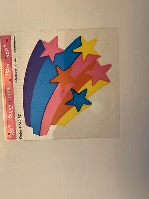 Rare Vintage Stickers - Cardesign - Super Toots Rainbow Stars Dated 1984