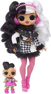 LOL SURPRISE OMG Dollie & Dollface Winter Disco Doll, Hard to Find Toy, NIB