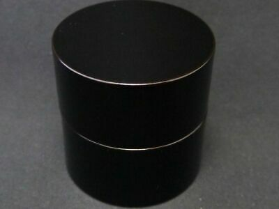 Japanese Traditional Lacquer Wooden Tea caddy Jet-Black Nakatsugi-Natsume (1224)