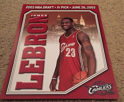 2003 NBA Draft Card LeBron James 8x10 Excellent Condition Cleveland Cavaliers