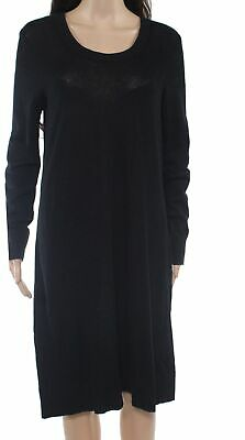 Toad & Co. Womens Sweater Dress Black USA Medium M Scoop Neck Ribbed $129 690