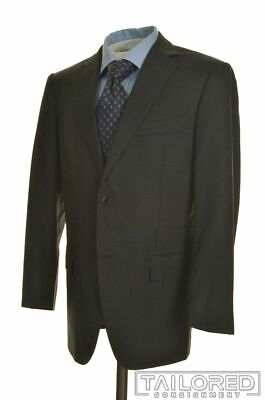 SUITSUPPLY Gray Striped SUPER 110's WOOL Jacket Pants SUIT Mens - 38 S