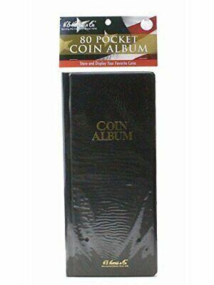 Harris 80 Pocket Coin Album Stock Book for 2x2 Holders Flips Display US Free SH