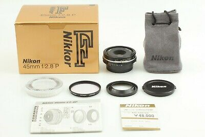 [UNUSED w/ BOX] Nikon Ai-s Nikkor 45mm f/2.8P P Pancake Lens Black From Japan