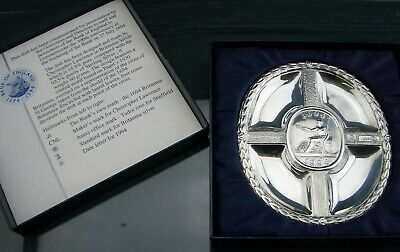 BRITANNIA Silver ASHTRAY - Sheffield 1994 - Christopher Lawrence - Collectable