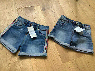 Brand New with Tags Two Pairs Of Denim Shorts Age 11 Years TUI