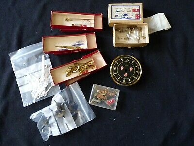 Selection of vintage clock hands & parts