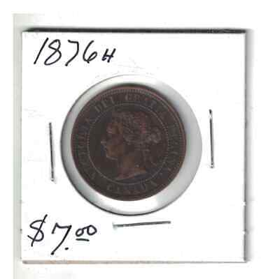 1876H Canada 1 cent Large Penny