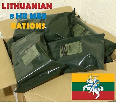Military Lithuania Army Food Ration Meal Pack MRE Emergency Lithuanian RCIR US