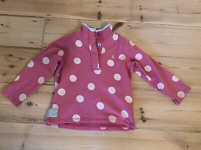 Girls Joules Pink Spotty Top Age 7 Years Used But Good Condition.