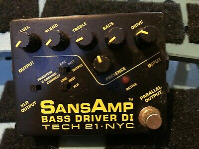 Tech 21 SansAmp Bass Driver DI Distortion Guitar Effect Pedal