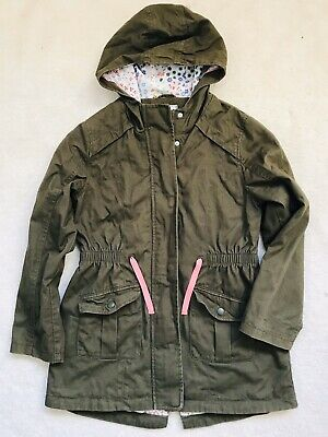 Girls Khaki Coat Age 11-12 Years From M&S
