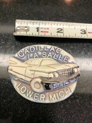 Cadillac Lasalle Lower Michigan Porcelain Enamelled Paperweight - Artist made