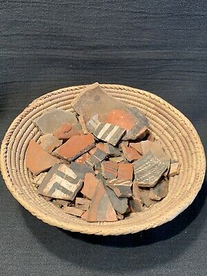 Basket Of Pre Columbian Pottery Shards