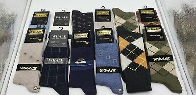 12 Pairs New Cotton Men Argyle Diamond and other Style Dress Socks Size 10-13