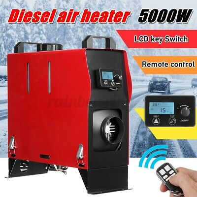 12V 2KW Diesel Air Heater Tank Vent Duct LCD Thermostat Silencer Motorhome Car