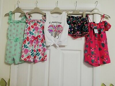 Lovely Girls Summery Bundle Age 3-4 Years Playsuits Top Shorts