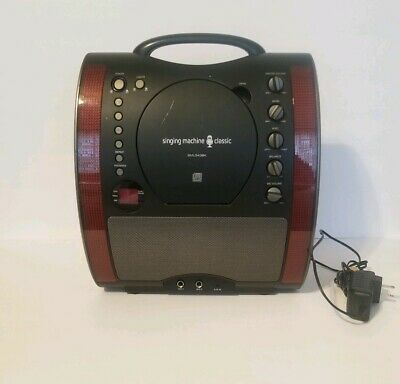 Singing Machine SML343BK Front Loading Karaoke Machine With CD Player