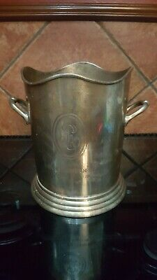 Champagne bucket - electro plated nickel silver and engraved Louis Roederer Fond
