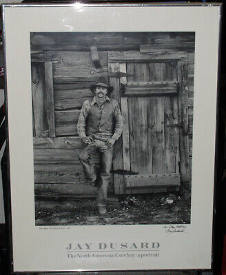 Original Jay Dusard Signed Photograph / Print Framed, For Stan Robbins, Cowboy P