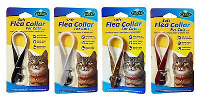 Cat Flea Collar Soft Kittens Elastic Safety Link & Bell Comfortable Kitty Care