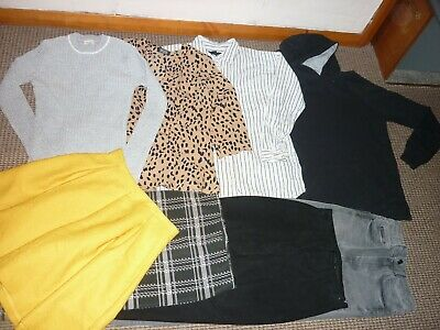 Bundle Girls Clothes age 13-14yrs Zara Topshop Jeans Tops Skirts Hoodie Trousers