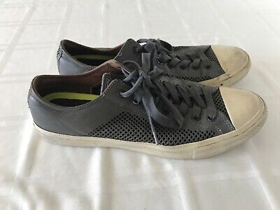 CONVERSE John Varvatos Chuck Taylor leather  Athletic Sneakers Shoes Gray Sz 11